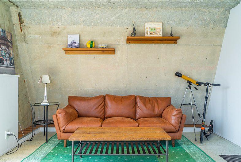 レンタル撮影スタジオのこだわり: ソファーブースあり